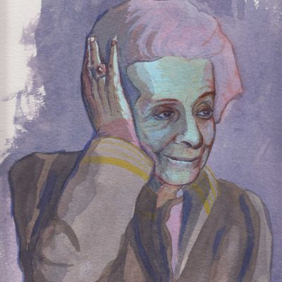 Portrait of Rita Levi-Montalcini, painting by Alessandro Bruno.