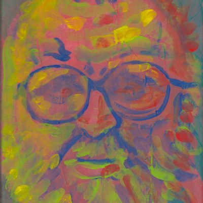 Sergio Leone portrait, painting by Alessandro Bruno.
