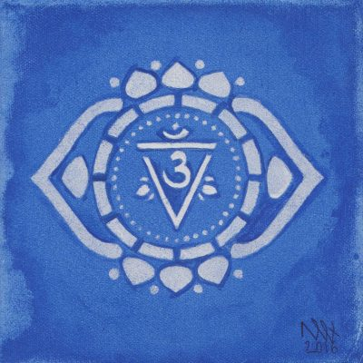 Third Eye Chakra painting by Alessandro Bruno. 2016, Egg tempera on canvas, 20cm by 20cm.
