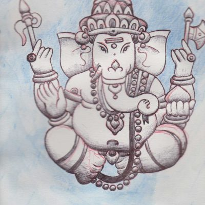 Ganesh 1, painting by Alessandro Bruno.
