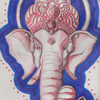 Ganesh 3, painting by Alessandro Bruno.