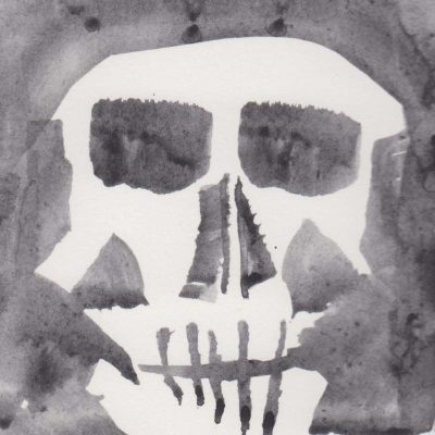 Skull, painting by Alessandro Bruno.